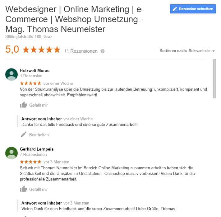 Webdesign und Online Marketing Graz